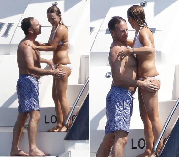 Férje nem bírta túl sokáig megállni, hogy csak nézze a vizes, fehér bikinis nőt, muszáj volt kézbe vennie a helyzetet.