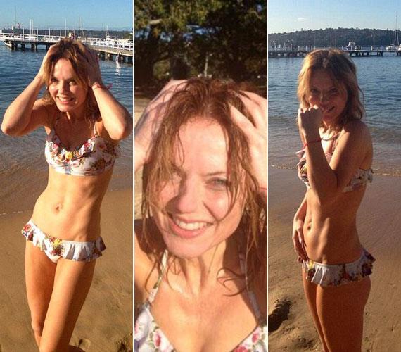 A kereken 40 éves énekesnő izmos, irigylésre méltó testtel rendelkezik - ezt az ausztrál tengerparton, Sydney-ben mutatta meg tegnap reggel.