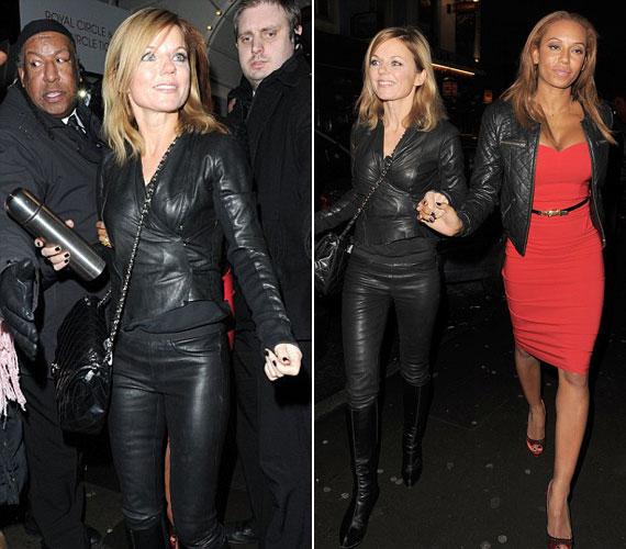 A másik Spice Girl, Mel B tudta, hogyan kell kinézni: ő egy elegáns, piros kreációba bújt.