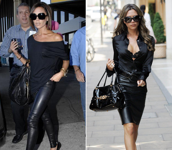 Ki imádná jobban a bőrruhát, mint Victoria Beckham? A manapság divattervezőként is bizonyító énekesnőnek mindegy, hogy nadrág vagy szoknya, a lényeg, hogy dögös legyen.