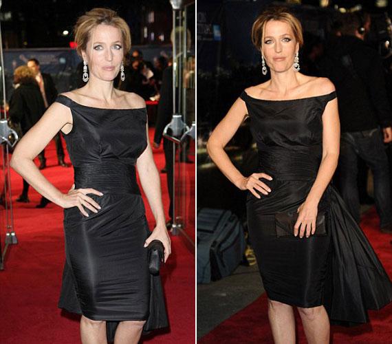 Joggal lehet büszke magára Gillian Anderson, amiért három gyerek után is ilyen jól néz ki.
