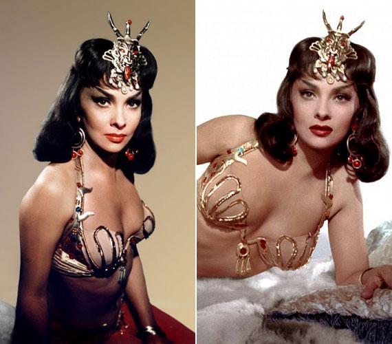 Egyik leghíresebb szerepében, a Salamon és Sába királynője című filmben.