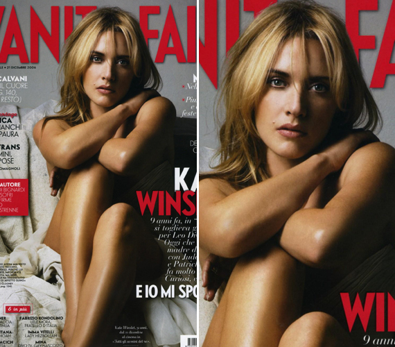 Kate Winsletet 2006-ban fotózták meztelenül a Vanity Fair című magazinnak, ekkor már két gyermek édesanyja volt. A színésznő idén 40 éves.