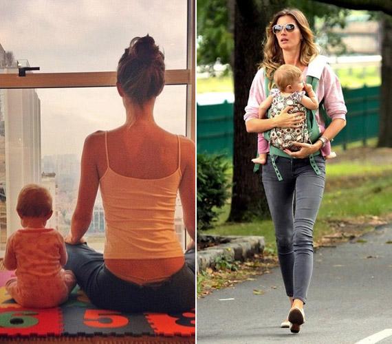 Gyerekeit már egész kiskorukban az egészséges életmódra neveli. A képen kislányával, Viviannel látható.