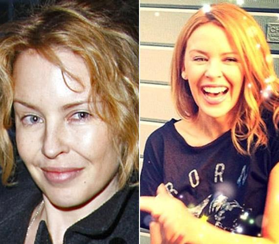 Kylie Minogue-got is nehéz lenne felismerni a smink nélkül.