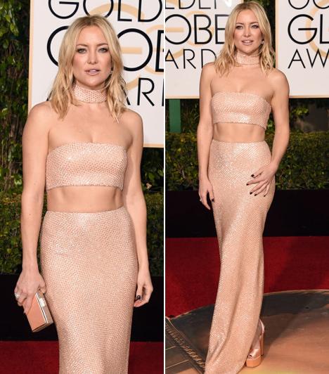 Kate Hudson  A szőke szépség egy igazán sokat mutató Michael Kors kreációban lépett a vörös szőnyegre. Nincs is takargatnivalója, az alakja tökéletes.