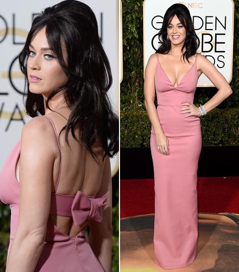 Katy Perry  Kevesen tudnák felidézni, hogy az énekesnő milyen ruhában érkezett a gálára, majd' kibuggyanó mellei minden figyelmet elvontak a teste többi részéről.