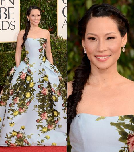 Lucy LiuA 44 éves színésznő igazán királylányosan nézett ki a Carolina Herrera-ruhában.
