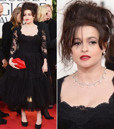 Helena Bonham CarterTim Burton 46 éves felesége ezúttal sem hazudtolta meg magát. Míg mindenki igyekezett a legjobb formáját hozni, addig a színésznő haja egy szénakazalra hasonlított, Dolce & Gabbana ruhája pedig esetlenül lógott rajta.