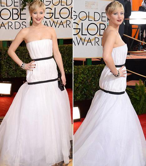 Jennifer LawrenceA fiatal színésznő most a legjobb mellékszereplőnek járó díjjal lett gazdagabb, az átadóra pedig miben másban, mint Diorban érkezett.Kapcsolódó cikk:Photoshoppal változtatták gebévé képeit! Teljesen kiakadt most Jennifer Lawrence
