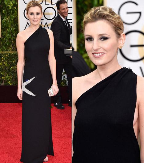 Laura CarmichaelA Downton Abbey sztárja egy vintage James Galanos ruhát választott.