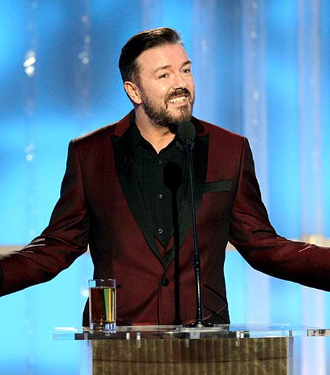 Ricky Gervais                         Ricky Gervais három éven keresztül volt a Golden Globe házigazdája. Ez alatt az idő alatt sikerült jószerével mindenkit megsértenie Hollywoodban. Nem ismert mértéket, ha viccekről volt szó, így pellengérre került Mel Gibson az alkoholizmusával, Robert Downey Jr. az elvonóra kerülésével, Charlie Sheen a válságba kerülésével, Salma Hayek az akcentusával.