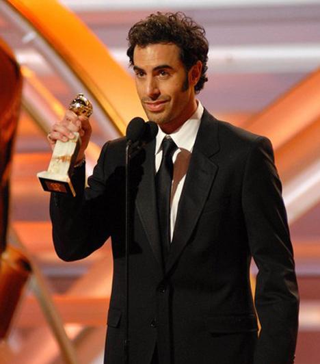Sacha Baron Cohen                         A polgárpukkasztó és botrányos filmjeiről híres Sacha Baron Cohen a díjat azoknak az amerikaiaknak köszönte meg, akik még nem perelték be.