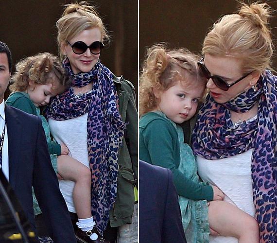 Nicole Kidman kislánya, a hároméves Faith kiköpött édesanyja.