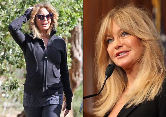 Goldie Hawn állítja, az egészséges életmód és a testedzés miatt néz ki fiatalosnak, nem a plasztikai sebész miatt.