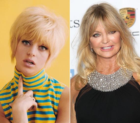 A november 21-én született Goldie Hawn már élvezi a nyugdíjaséveit, de azért rendszeresen felbukkan különféle vörös szőnyeges eseményeken párjával, Kurt Russell-lel és lányával, a szintén színésznő Kate Hudsonnal. Bár arcán már láthatóan nem egy plasztikai műtétet hajtottak végre, mosolya még mindig a régi.