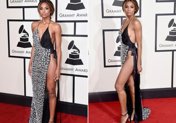 Ciara estélyi ruhája sokakat megbotránkoztatott a gálán. A vékony anyagú estélyi alá még fehérneműt sem húzott az énekesnő.