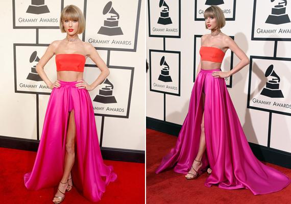 Taylor Swift még a bugyiját is megvillantotta a nagyközönségnek. Igaz, ebben a ruhában ez szinte elkerülhetetlen volt.