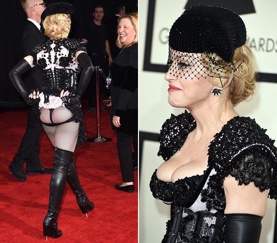 Madonna ismét magára irányította a figyelmet, az 56 éves énekesnő Givenchy Couture ruhájában elég kínosan nézett ki. A mellét felpolcolta, és láthatóan a fenekénél is eszközölt egy kis push upot. Még a karja is kibuggyant kicsit a kesztyűből, mert az túlságosan elszorította.