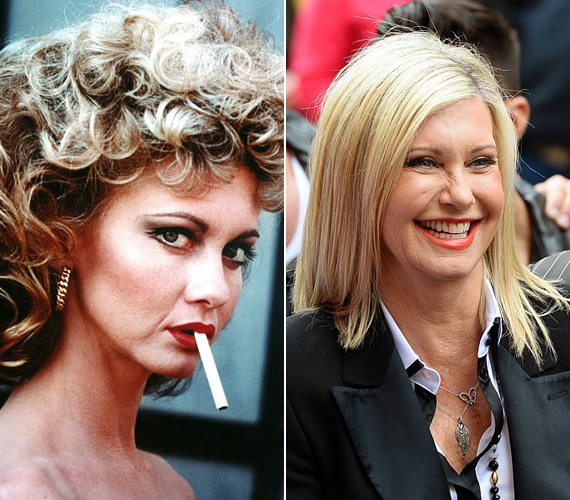 Olivia Newton-John 30 éves volt, amikor eljátszotta a szolid lányból bombázóvá váló Sandy karakterét a Grease-ben. Azóta sem sokat változott, 66 évesen is igézően szép a színész-énekesnő. Utoljára 2011-ben állt a felvevőgép elé a Harmadnaposok című filmben.