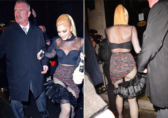 Nem sokat takart Gwen Stefani falatnyi ruhája, amelyet a Saturday Night Live after partiján húzott magára. A hatás nem maradt el, mindenki kivillanó fehérneműjéről és fenekéről beszélt egész este.