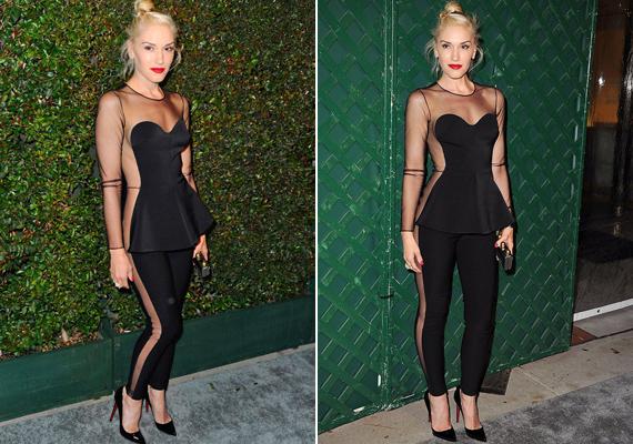 2012-ben viselte ezt a Stella McCartney által tervezett ruhát, amelynek különlegessége, hogy az oldala teljesen átlátszó volt.