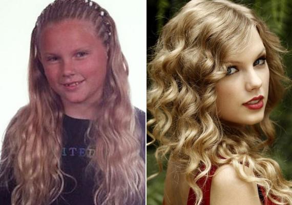 Taylor Swiftnek sem volt örömteli a kamaszkora. A gyönyörű énekesnő is sokáig küzdött a pattanásaival és a hatalmas, göndör hajával.