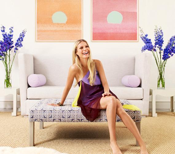 Gwyneth a magazinnak elmondta, hogy szereti a nagy tereket, ezért világos színeket használt a nappaliban és a többi szobában is.