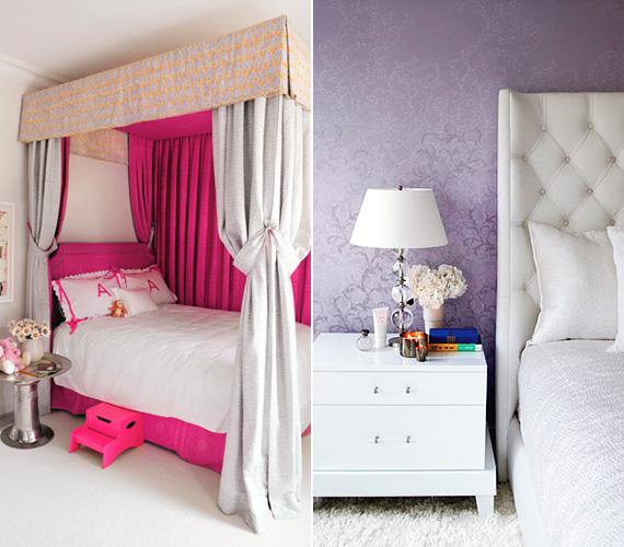 A színésznő nyolcéves kislánya, Apple pink lányszobát kapott, míg a szülők hálója hófehér és orgonalila színben játszik.