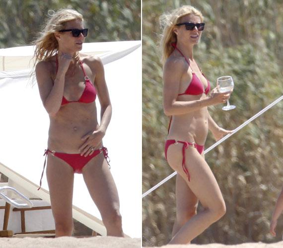 A fotókat látva férje, Chris Martin bánhatja, hogy nem kísérte el a vakációra feleségét.