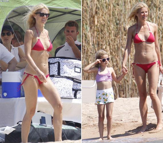 A strandon vele volt két gyermeke is, a képen Apple nevű kislányával látható, aki 2004. május 14-én született.