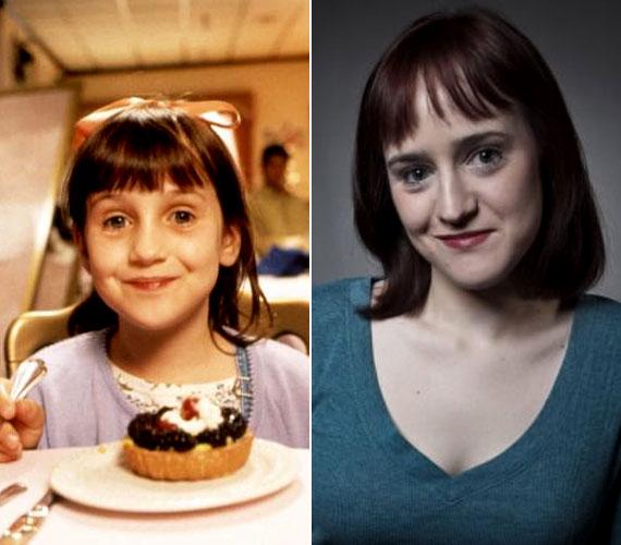 Mara Wilson, a Mrs. Doubtfire - Apa csak egy van és a Matilda, a kiskorú boszorkány című filmek cuki kislánya mára 24 éves nővé cseperedett. A filmezéssel évekkel ezelőtt felhagyott, helyette művészetet tanul és drámaírással foglalkozik.