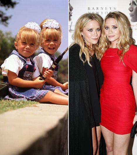 Ashley és Mary-Kate Olsen  Az 1986-os Olsen ikrek szinte a születésüktől fogva szerepelnek a képernyőn - egészen pontosan féléves korukban kerültek be a Bír-lak című sorozatba.  Kapcsolódó sztárlexikon: Ilyen volt, ilyen lett: Ashley és Mary-Kate Olsen »
