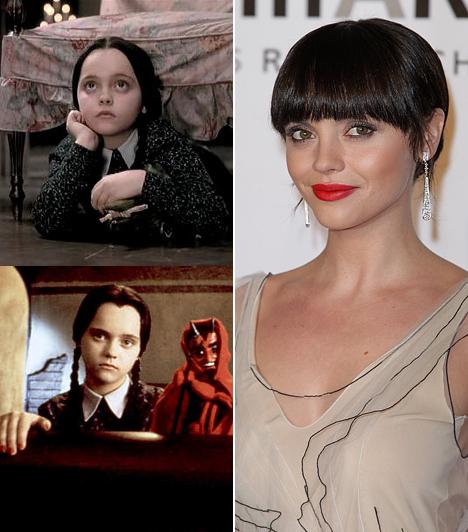 Christina Ricci  Christina Riccit nem a szépségéért bízták meg az Addams Family kislányának szerepével, ami bedobta a nevét a köztudatba. Végül azonban sikerült neki az, ami csak keveseknek: elismert felnőtt színésszé vált. Kapcsolódó sztárlexikon: Ilyen volt, ilyen lett: Christina Ricci »