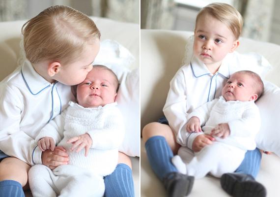 Nem sokkal Charlotte keresztelője után elkészültek az első hivatalos képek a testvérpárról. A fotókat egyébként maga Katalin hercegnő készítette.