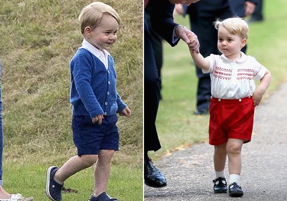György herceg igazi virgonc kisfiú. Charlotte keresztelőjén is magára terelte a figyelmet, amikor nevetgélve rohangált körbe a termen az egész ceremónia alatt.