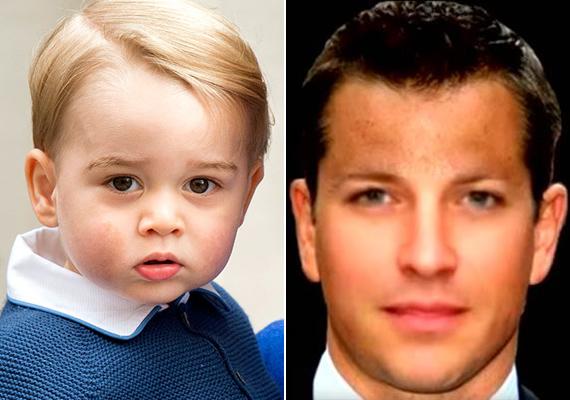 Igazi szívtipró lesz György herceg 40 évesen. Ötvözi édesapja sármos külsejét és anyja finom vonásait.