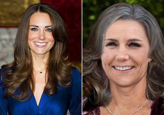 Katalin hercegnét is megöregítették korábban, ha igaz, 60 éves korában is nagyon csinos nő lesz.