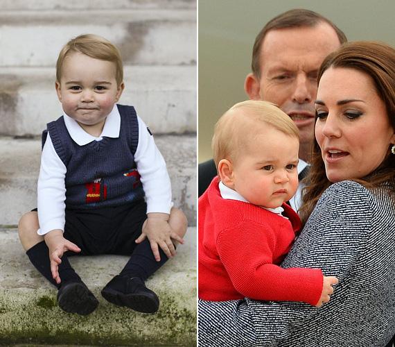 Bár még csak másfél éves, cukibbnál cukibb fotók készültek róla, mert annyira édes grimaszokat vág, hogy azt látni kell. Az első kép az utolsó hivatalos fotója decemberből, a második pedig a 2014 áprilisi körúton készült, amikor a hercegi család Ausztráliába és Új-Zélandra látogatott.