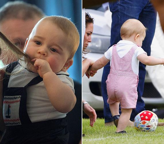 Fodrász lesz? Vagy focista? Egy biztos, a fél világ követni fogja a kis herceg felcseperedését.