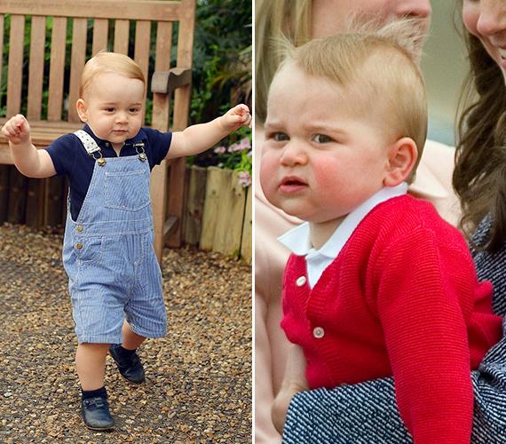 György herceg hihetetlenül édes grimaszai bejárták a világot. Szinte nincs fotó, amelyen ne vágna valamilyen egészen meglepő arcot.