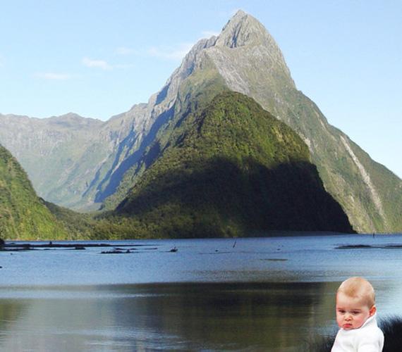 Hiába a gyönyörű hegyek, György szája lefelé biggyed.
