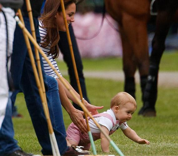 Állítólag kacagva kúszott a lovak felé.