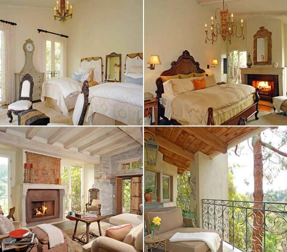 A házban két háló- és két fürdőszoba kapott helyet - miután azonban 2008-ban megszületett a színésznő kislánya, nagyobb otthon után néztek.