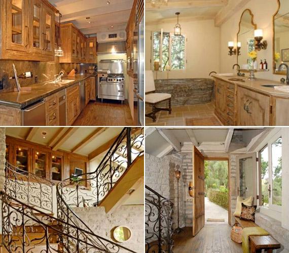 A belső terekben a fa- és a pasztellszínek hangsúlyosak, az ötvenes években épült ház falai meleg, bensőséges hangulatot árasztanak.