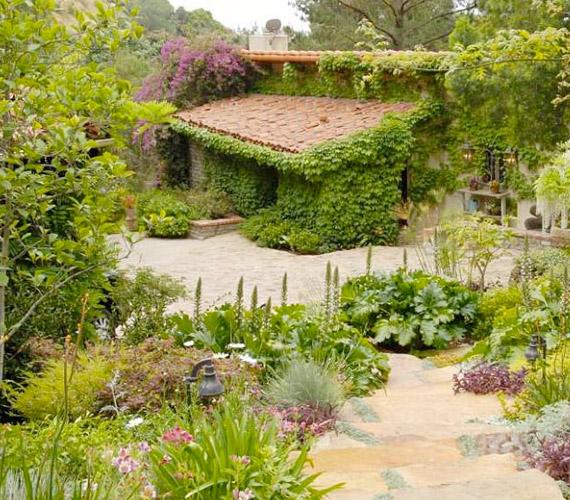 A villához egy hangulatos vendégház is tartozik, melynek falát vadszőlő borítja.