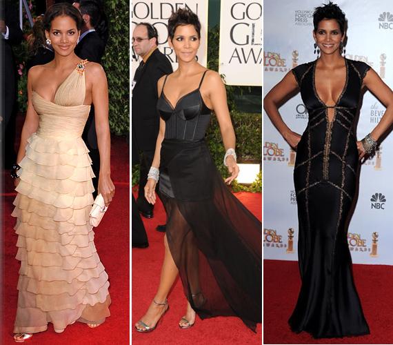 A Golden Globe-díjátadókon is ragyogott - 2005-ben krémszínű Valentinóban, 2011-ben Nina Ricciben, de a legdögösebb a 2010-es Kaufman csipkeruhában volt.