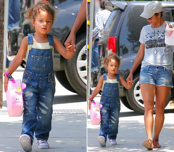 A hároméves Nahla egyre szebb, gyűrűs haját anyukájától, mandulavágású kék szemeit pedig kanadai apukájától, Gabriel Aubrytól örökölte.