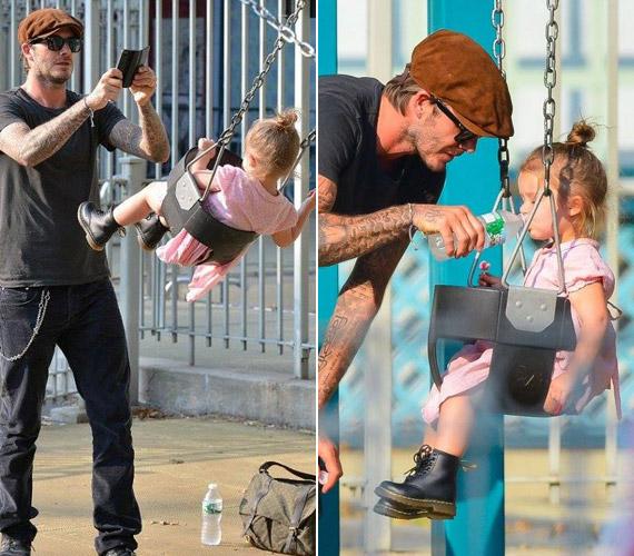 David Beckhamről senki nem gondolta volna, hogy egyszer ilyen példás apuka válik belőle, rengeteget foglalkozik a kislánnyal.