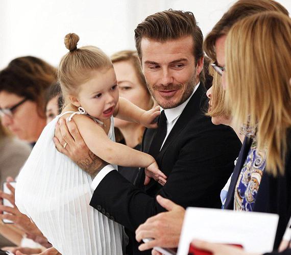 Egy kétéves gyerektől még nem várhatják el, hogy teljes nyugalomban végignézzen egy showt, apukájának kellett is fékezni a pici lányt.